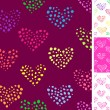 Colourful hearts seamless pattern — Stock Vector