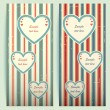 Royalty-Free Stock Vektorfiler: Valentine\'s day vintage cards.