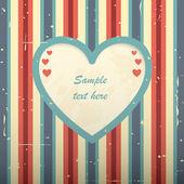 Día de san valentín tarjeta rayada. — Vector de stock