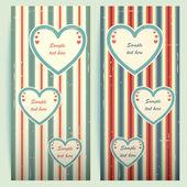 Alla hjärtans dag vintage kort. — Stockvektor
