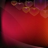 Opknoping harten achtergrond — Stockvector