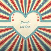 Valentine's day retro card. — Stock Vector