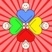 Solidarietà - colori brillanti. — Vettoriale Stock