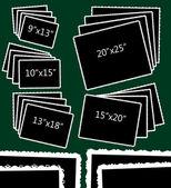 Photo templates rectangle — Stock Vector