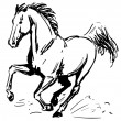 Galloping horse - Stock Vector
