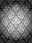 Damask pattern gray — Stock Vector