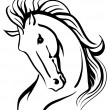 Stylised horse head — Stock Vector #22520623