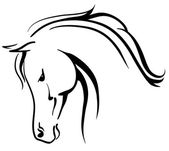 Arabian horse stylised head — Stock Vector