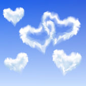 Heart shaped clouds — Stock Vector