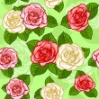 Stock Vector: Seamless light roses pattern