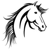 Horse's head — Stock Vector