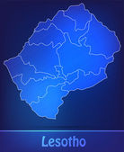 Map of Lesotho with borders as scrible — Vector de stock