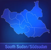 Map of South Sudan with borders as scrible — Wektor stockowy