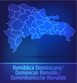 Map of Dominican Republic with borders as scrible — Stock Vector