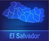 Map of el-salvador with borders as scrible — Stock Vector