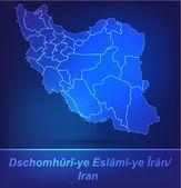 Map of Iran with borders as scrible — Vector de stock