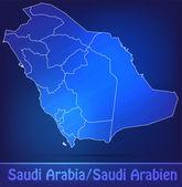 Map of Saudi Arabia with borders as scrible — Vector de stock