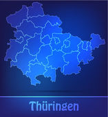 Map of thuringia with borders as scrible — Wektor stockowy