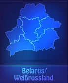 Map of Belarus with borders as scrible — Wektor stockowy