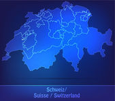 Map of Switzerland with borders as scrible — Stockvektor
