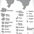 Stockvector : Map of Brazil