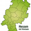 Stock vektor: Map of Hesse