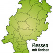 Map of Hesse — Stockvektor #39277671