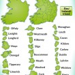 Stock Vector: Map of Ireland