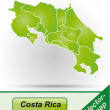 Stock Vector: Map of Costa-Rica