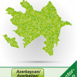 Stock Vector: Map of Azerbaijan