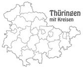 Map of thuringia — Stock Vector