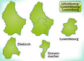 Map of Luxembourg — Stock Vector