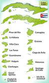 Map of Cuba — Stock Vector