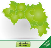 Map of Guinea — Stock Vector