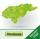 карта гондураса — Cтоковый вектор