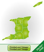 Map of Trinidad and Tobago — Stock Vector