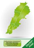 Mappa del libano — Vettoriale Stock