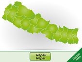 Map of Nepal — Stock Vector