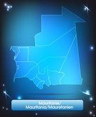 карта мавритании — Cтоковый вектор
