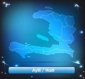 Map of Haiti — Stock Vector