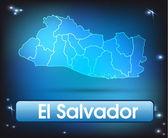 карта эль сальвадор — Cтоковый вектор