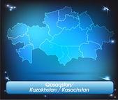 カザフスタンの地図 — ストックベクタ