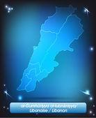 レバノンの地図 — ストックベクタ