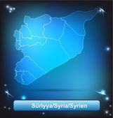 Map of Syria — Stock Vector