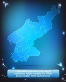 北朝鮮の地図 — ストックベクタ