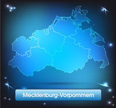 Map of Mecklenburg-Western Pomerania — Stockvektor