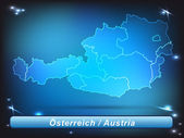 Map of Austria — Stockvektor
