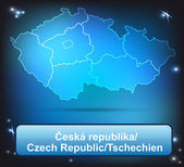 Map of Czech Republic — Stock Vector