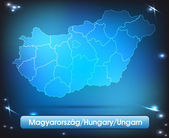 Map of Hungary — Stock Vector