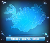 Map of Iceland — Stock Vector